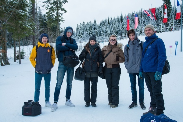 The Photo Project Group of the Gertrud-Luckner School, from left to right: Gabriel Reinwarth, Till Siemer, Anja Hildebrand, Diana Saurer, Linus Kattruff, Nils Kreuter (Harry Schulz is missing)